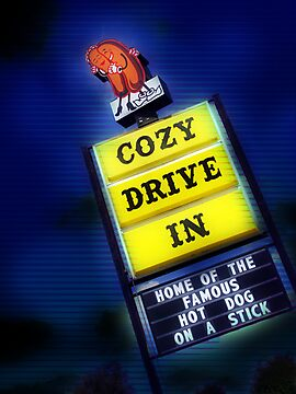 cozy drive in, route 66 by brian gregory