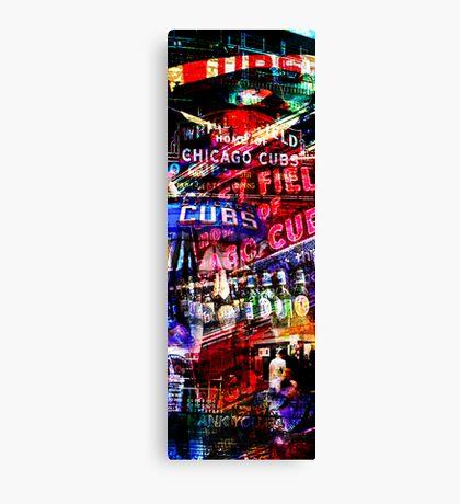 chicago cubs montage Canvas Print
