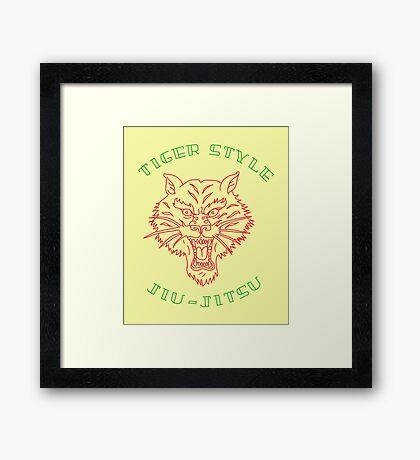 Tiger Style Jiujitsu Framed Print