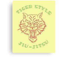 Tiger Style Jiujitsu Canvas Print