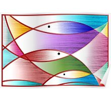 Digital painting symbolic fishes Poster