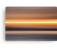 stripy sunset Canvas Print