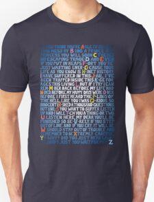"""Matilda """"School Song"""" lyrics T-Shirt"""