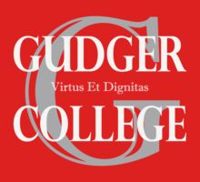 Gudger College (White & Light Grey text) One Piece - Long Sleeve