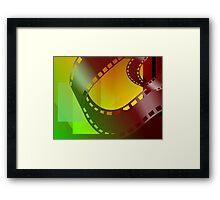 Clip art of film  roll Framed Print
