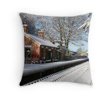 Holt Station, Norfolk Throw Pillow