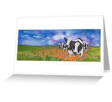"""Fragrant Friesians"" Greeting Card"