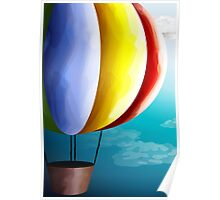 Air balloon in different colours Poster