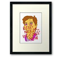 Reid needs his coffee Framed Print