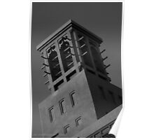 Arab Villa / House Ventilation - Black and White Poster