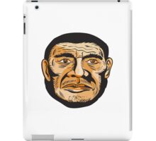Neanderthal Man Head Etching iPad Case/Skin