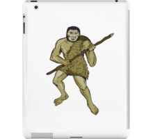 Neanderthal Man Holding Spear Etching iPad Case/Skin