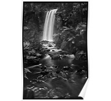 Hopetoun Falls in Mono Poster