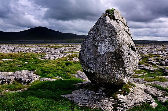 Ingleborough from Twisleton Scar - The Yorkshire Dales by Dave Lawrance