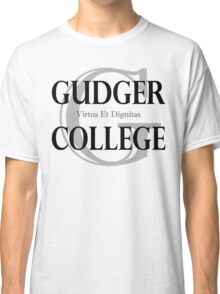 Gudger College (Black & Dark Grey text) Classic T-Shirt