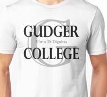 Gudger College (Black & Dark Grey text) Unisex T-Shirt