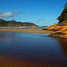 Tidal River Meets the Sea,Wilsons Prom by Joe Mortelliti