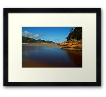 Tidal River Meets the Sea,Wilsons Prom Framed Print