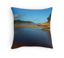 Tidal River Meets the Sea,Wilsons Prom Throw Pillow