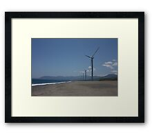 Philippine Windmill  - Landscape of Energy Framed Print