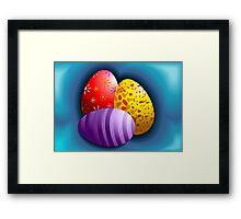 Hunt for Easter eggs Framed Print