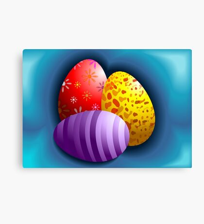 Hunt for Easter eggs Canvas Print