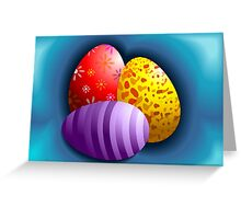 Hunt for Easter eggs Greeting Card
