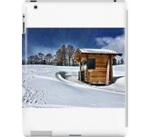 Cabin in the snow iPad Case/Skin