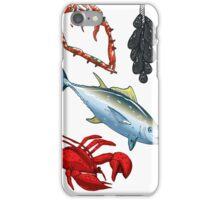 Food Set Fish, Vegetables and Fruit iPhone Case/Skin