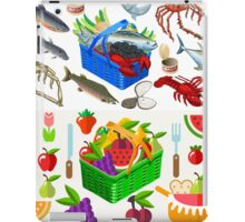 Food Set Fish, Vegetables and Fruit iPad Case/Skin