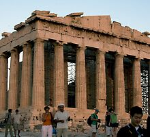 North western corner of the Parthenon by Mark Prior
