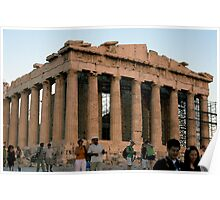 North western corner of the Parthenon Poster