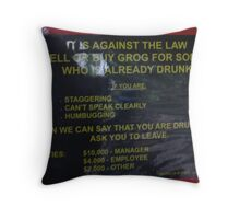 Whilst on the subject of drinking.............. Throw Pillow