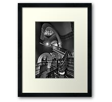 Staircase Addiction  #3 - QVB  Sydney - The HDR Experience Framed Print