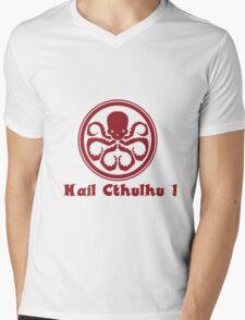 Hail Cthulhu ! Mens V-Neck T-Shirt
