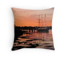 2011 sunset calendar - port macquarie Throw Pillow