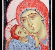 the Virgin of Tenderness and the Child Jesus by Bogdan Solomenco