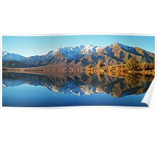 """evening glow""  lake benmore, south island, new zealand Poster"