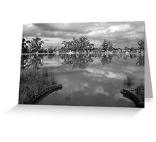 Sculpted Lake View at Neangar Greeting Card