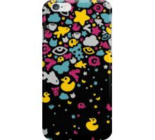 Toys falling like candies - black iPhone Case/Skin