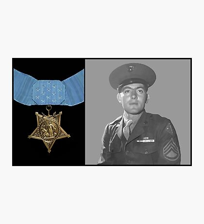 John Basilone and The Medal of Honor  Photographic Print