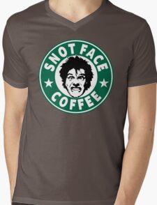 Snot Face Coffee Mens V-Neck T-Shirt