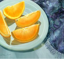 Blue Silk and Oranges by Joan A Hamilton