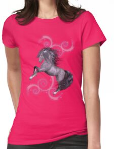 The Stallion .. a wild horse Womens Fitted T-Shirt