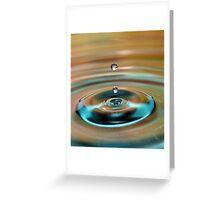 Water Drop 2 Greeting Card