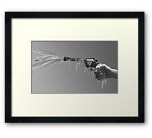 Frosty Trigger Finger Framed Print