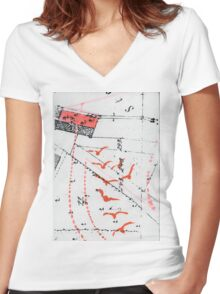nach hause Women's Fitted V-Neck T-Shirt