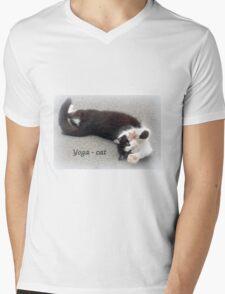 Yoga - Cat Mens V-Neck T-Shirt