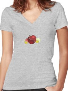 apples Women's Fitted V-Neck T-Shirt