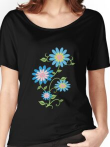 Fabric Flowers Women's Relaxed Fit T-Shirt